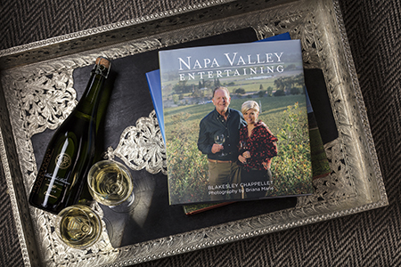 """Napa Valley Entertaining"" Book on coffee table"