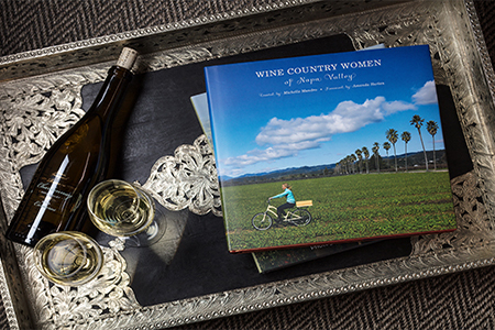 """Wine Country Women of Napa Valley"" Book on coffee table"