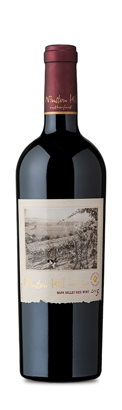 Bottle of 2015 Winston Hill Red Wine